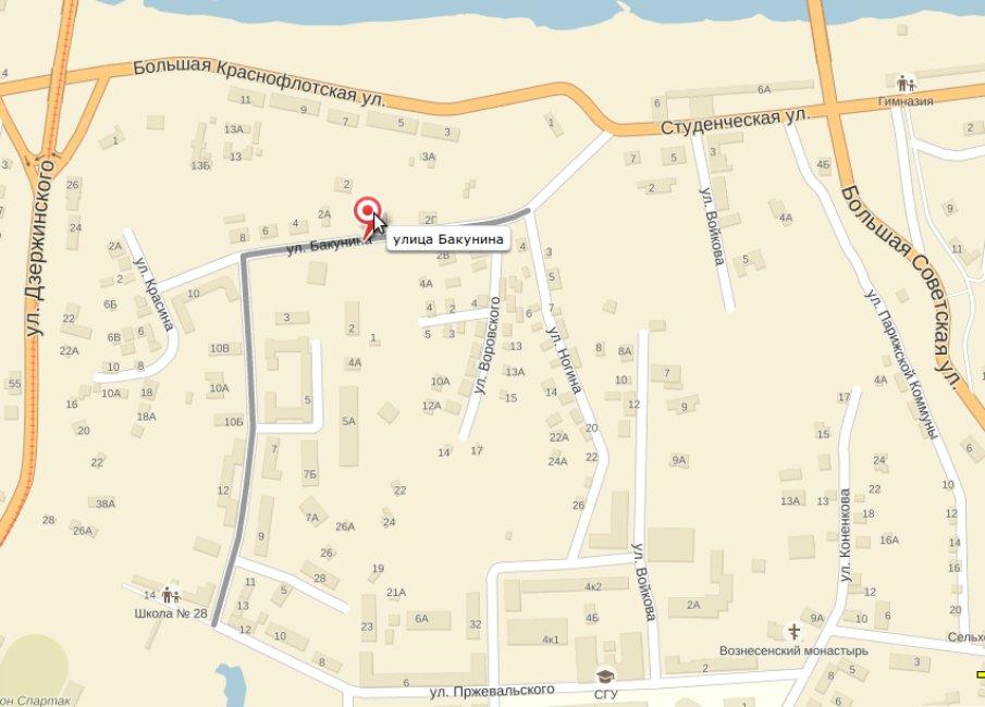 Большая Казанская улица – улица им. Бакунина. | Старый ...: http://old-smolensk.ru/?p=9304
